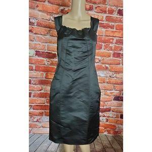 EUC Trelise Cooper Black Silk Dress Size 8